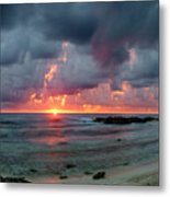 Threatening Sky Above The Caribbean Sea Off Isle De Mujeras' North Shore Metal Print