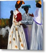 Three African Women Metal Print
