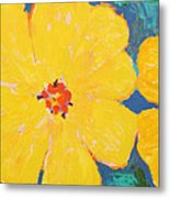 Three And A Half Flowers Metal Print