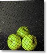 Three Apples Metal Print