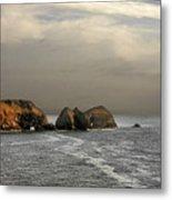 Three Arch Rocks - Oceanside Near Cape Meares - Oregon Metal Print