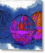 Three Balls Metal Print
