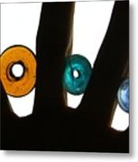 Three Beads Metal Print