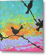 Three Birds Metal Print