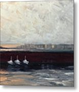 Three Boats Metal Print