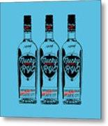 Three Bottles Of Nucky Rye Tee Metal Print