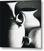 Three Clay Jars 1 Metal Print