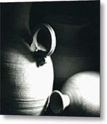 Three Clay Jars 3 Metal Print