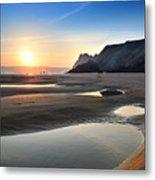 Three Cliffs Bay 2 Metal Print