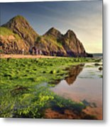 Three Cliffs Bay 3 Metal Print