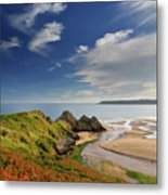 Three Cliffs Bay 4 Metal Print