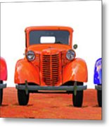 Three Colored Cars Metal Print