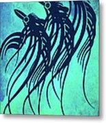 Three Crows Contemporary Minmalism Metal Print