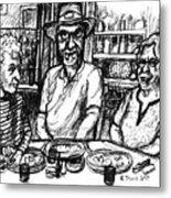 Three Diners Metal Print