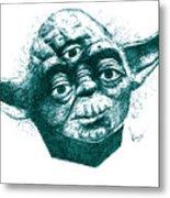 Three Eyed Yoda Metal Print