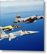 Three F-5e Tiger II Fighter Aircraft Metal Print