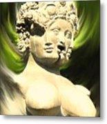 Three Faced Statue Metal Print