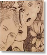Three Faces Metal Print