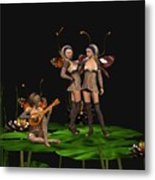 Three Fairies At A Pond Metal Print