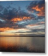 Three Fiery Clouds Metal Print