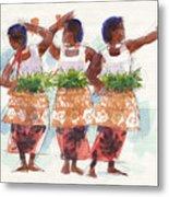 Three Fijian Dancers Metal Print
