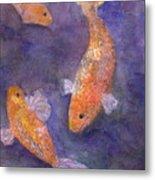 Three Fish Metal Print