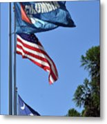 Three Flags Metal Print