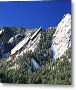 Three Flatirons Metal Print