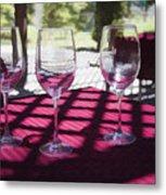 Three For Wine Metal Print