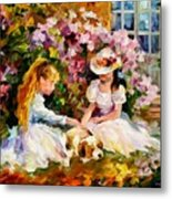 Three  Friends Metal Print by Leonid Afremov