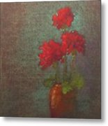 Three Geraniums Metal Print