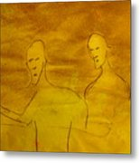 Three Ghost Running Metal Print