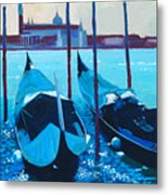Three Gondolas Metal Print