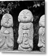 Three Happy Buddhas Metal Print