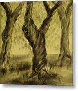 Three Is As Tree Gets Metal Print