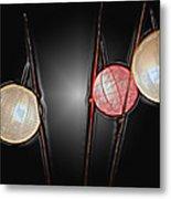 Three Lanterns Metal Print