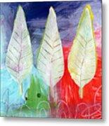Three Leaves Of Good Metal Print by Linda Woods