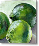 Three Limes Metal Print