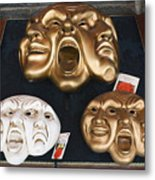 Three Masks For Sale, Venice Metal Print