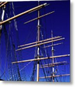 Three Mast Sailing Rig Metal Print
