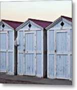 Three Modello Beach Cabanas Metal Print
