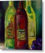 Three More Bottles Of Wine Metal Print