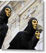 Three Muses On The Lithuanian National Dramatic Theatre In Vilnius Metal Print
