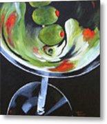 Three Olive Martini IV  Metal Print