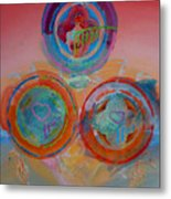 Three On Marine Metal Print