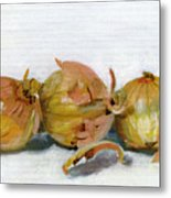 Three Onions Metal Print by Sarah Lynch