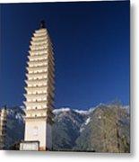 Three Pagodas Metal Print