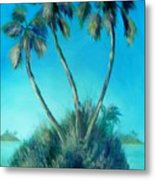 Three Palm Island Metal Print