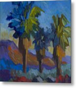 Three Palms At Palm Desert Metal Print