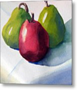 Three Pear Metal Print